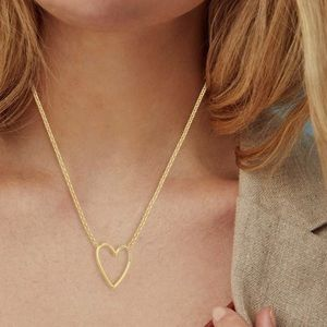 Kendra Scott Ansley Heart Pendant Necklace In Gold